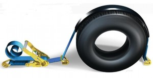 chinga de ancorare autoturisme pe platforma marca Tekarom albastru